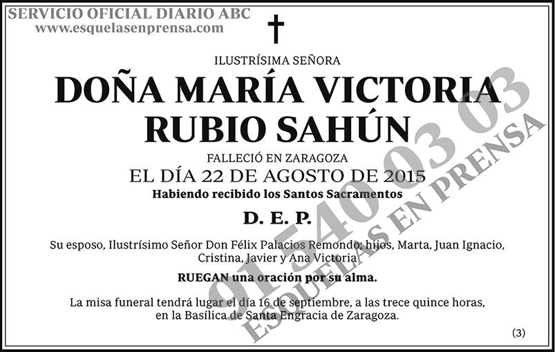 María Victoria Rubio Sahún
